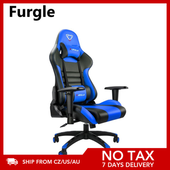 Furgle Gaming Chairs Office Chair Computer Chair with High-back Synthetic Leather Internet Chair Racing Chair for Desk Chair 1