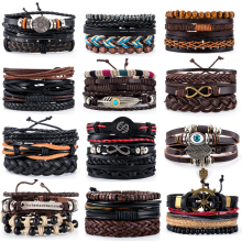 Male Jewelry Bangles Bracelets-Sets Anchor Gifts Homme Metal Handmade Retro Vintage 38-Style