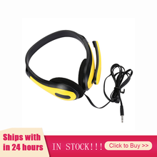 3.5mm Over-ear Gaming Headphones Stereo Earphones Red Yellow Blue Headset With Microphone For Laptop PC Computer Tablet Gamer
