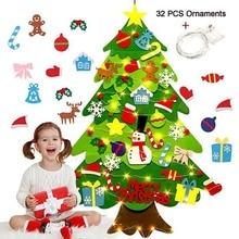 Поделки своими руками, игрушки из войлока, Рождественская елка, снеговик с орнаментом, искусственная Рождественская елка, детская игрушка, украшение для рождественской вечеринки, год
