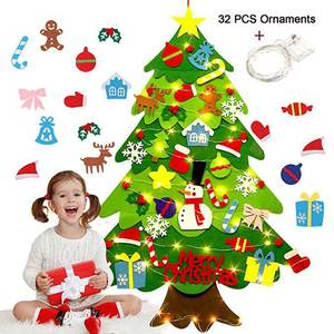 Crafts-Toys Ornaments Snowman Christmas-Tree DIY Felt Kids with Fake New-Year