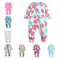Ropa de dibujos animados para bebé, peleles de manga larga para bebé, ropa de dormir para bebé de 0 a 18 M