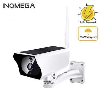 INQMEGA solaire alimenté WiFi IP caméra 1080P extérieur IP65 charge batterie sans fil caméra de sécurité PIR balle Surveillance CCTV