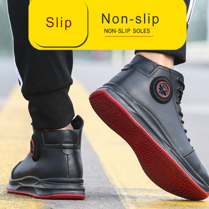 Image 5 - Work Shoes With Steel Toe Safety Martin Boots Industrial Men Office Boots Indestructible Anti Smashing Puncture Proof Protective