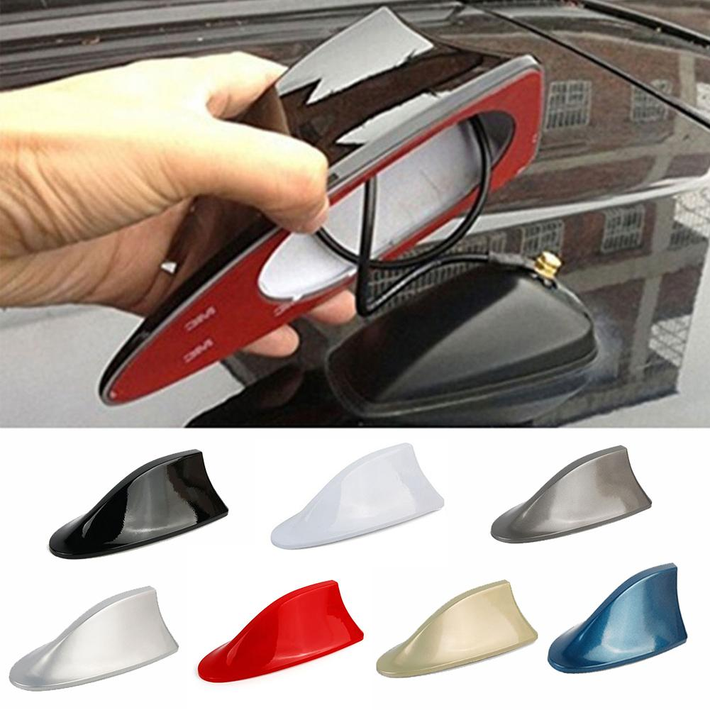 Universal Car Roof Shark Fin Decorative Aerial Antenna Cover Sticker Base Roof Carbon Fiber Style For BMW/Honda/Toyota