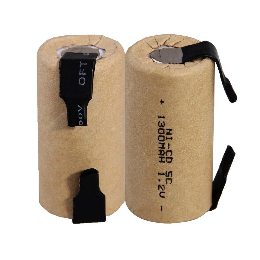 SC batterie 1300mAh ricaricabile NICD akkus sub C batteria linguette di saldatura 1.2V nastro di saldatura per trapani elettrici per USAG
