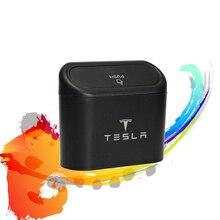 1X עבור טסלה מכונית אשפה תיבת אבק מקרה תיבת תיבת אחסון רכב אשפה תיק לחץ אטום אשפה יכול אוטומטי אחסון סל אבזרים