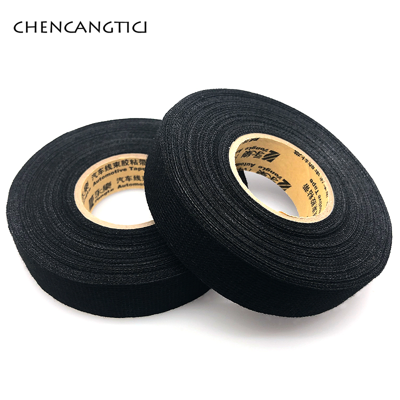 1 Pcs Heat-Resistant Fabric Adhesive Wiring Harness Tape Looms Fabric Cloth Adhesive Tapes Cable Protection