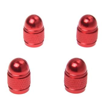 4pc new valve cap tire pressure cap wheel cover dust Xelo rod for Auto Car - red image