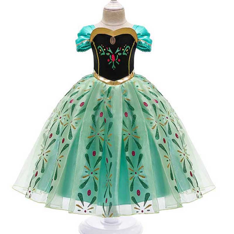 Princess Little Girls Cosplay Summer Flower Dresses Girl's Snow Queen Dress Clothing Baby Kids Beauty Princess Clothes Customes 5