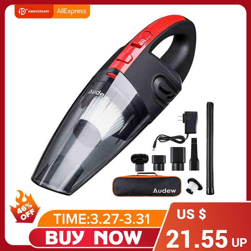 AUDEW 120W 4000pa Handheld Cordless Vacuum Cleaner for Car Home Use HEPA Filter Mini Portable USB Rechargeable Wet Dry 2200mAh