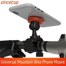 Suporte universal para celular em bicicleta, suporte giratório para celular iphone, huawei