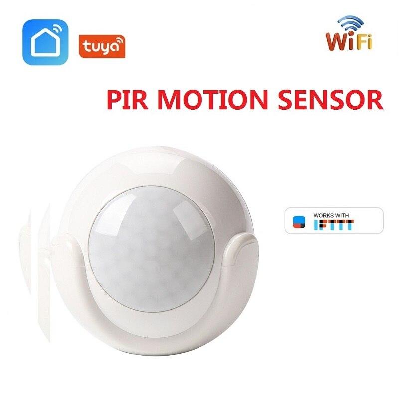 Mini WIFI PIR Motion Sensor Tuya Smart Life APP Built-in Battery Body Sensor Infrared Detector Home Alarm System Work With IFTTT