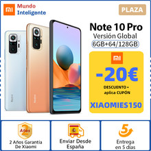 -20€ Código: XIAOMIES150 ,Versión Global Xiaomi Redmi Note 10 Pro Smartphone 108MP Quad Cámara Snapdragon 732G 120Hz AMOLED DotDisplay 33W de carga rápida Note10 Pro