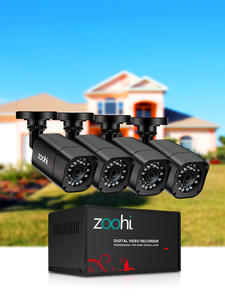 Zoohi Dvr-Kit Cctv-Camera-System HDD Surveillance-System Outdoor Home-Video 1080P HDMI