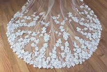 1 Yard 3D Pearl Beaded Flower Lace Trim in Off White, Sewing Craft Accessories Petal lace fabric for bridal veil wedding bodice