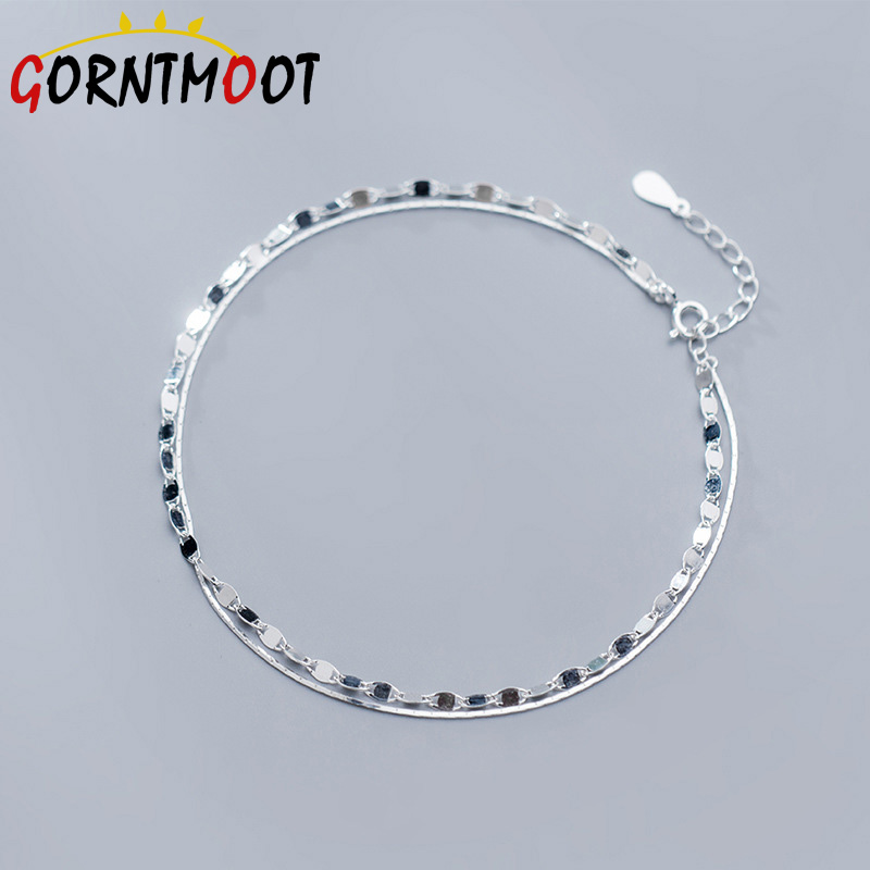 Simple Anklet 925 Sterling Silver Twisted Weave Chain For Women Elegant Anklets Bracelet For Women Foot Jewelry s925 Gifts