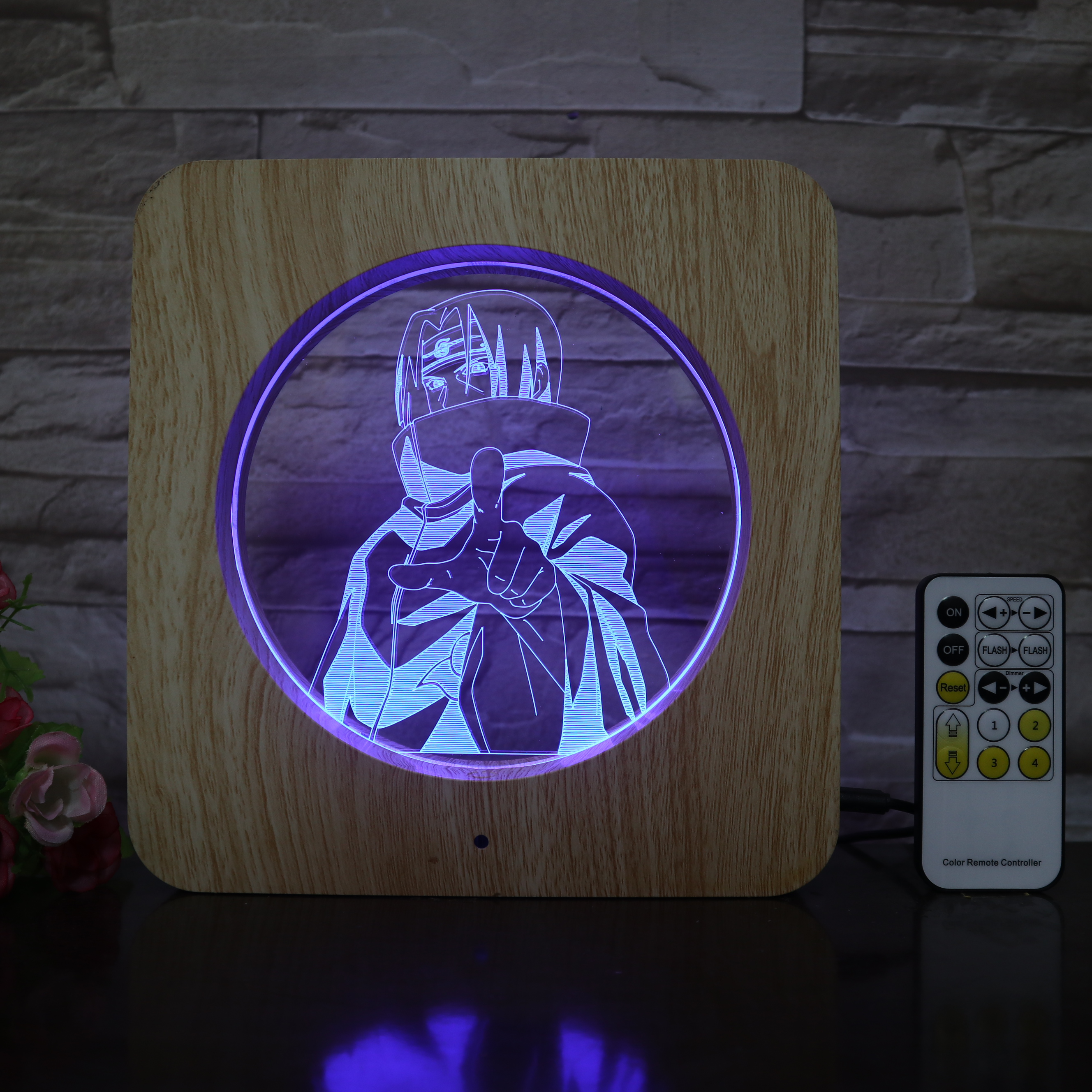 Naruto Shape 3D LED Lamp Plastic ABS Grain Line Lamp USB Table Lamp For Room Decor For Holiday Day Halloween Gift