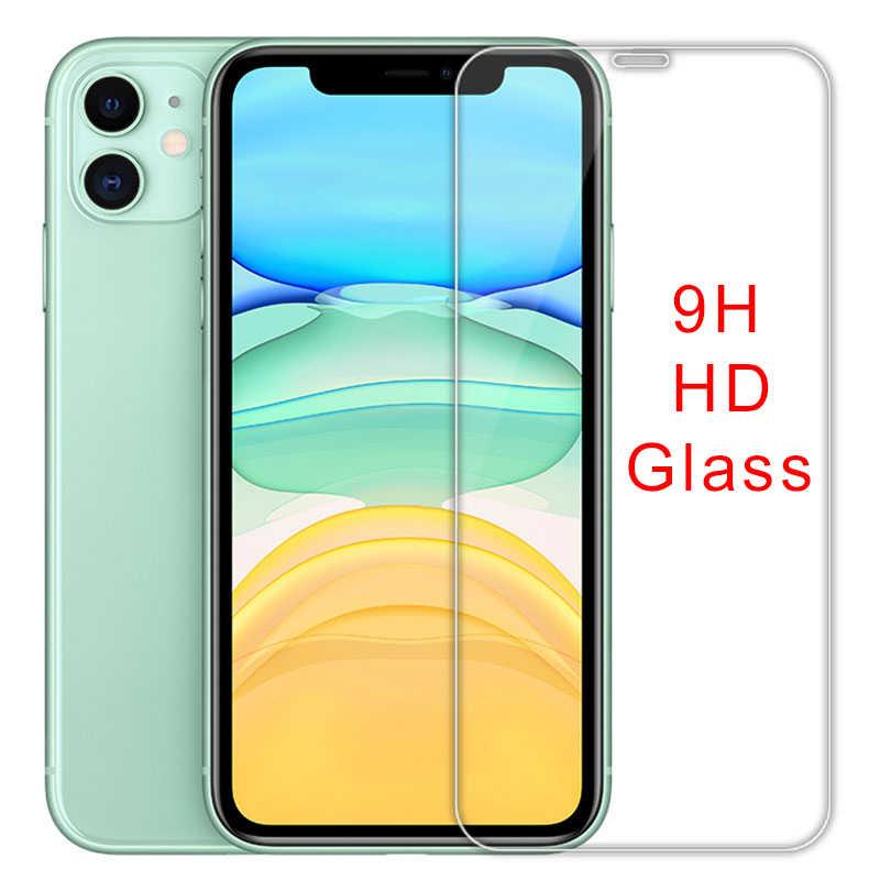 Pelindung Layar untuk iPhone X Max XR X 10 6 6S Plus SE 5S 5C Keras Ponsel Film kaca Pelindung Di iPhone 7 8 Ditambah 11 Pro Max