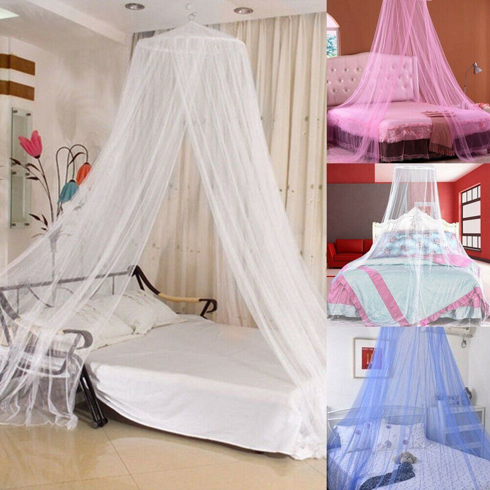 Limit 100 White Pink Blue Round Lace Curtain Dome Bed Canopy Netting Princess Mosquito Net
