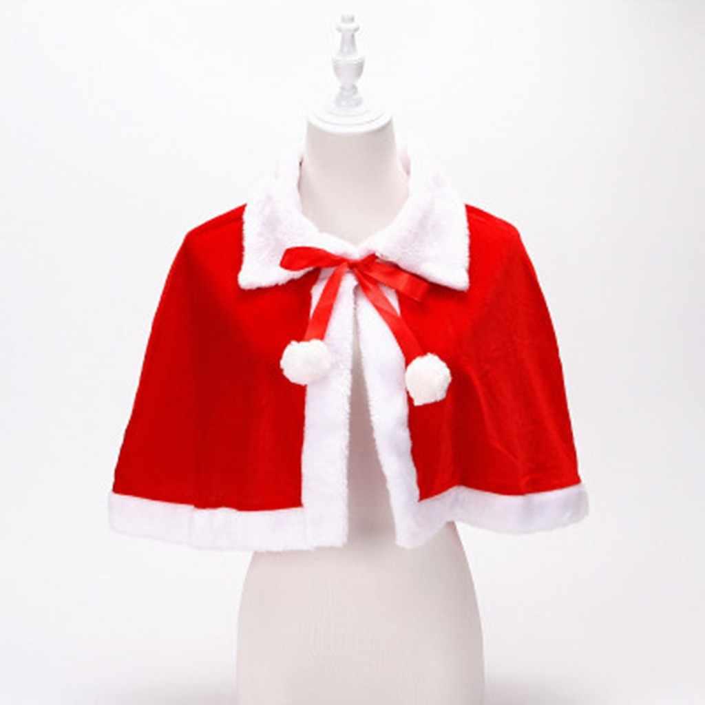 Putri Kostum Jubah Satin Cape Jubah Merah Natal Liburan Paskah Pesta Cosplay Gadis Berdandan Pakaian Mewah 11.5