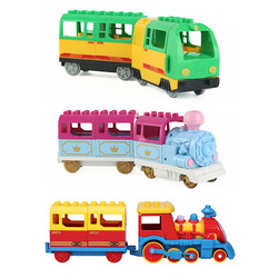 Electric Locomotive Train Large Particles Building Blocks Compartment Accessories Compatible with Duploed Toys for Children Gift