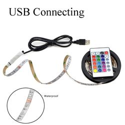 USB LED Strip lamp 5050 color RGB 5V IP65 waterproof light with 30 light USB interface 5 meters