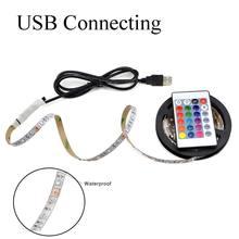 Usb conduziu a lâmpada de tira 5050 cor rgb 5v ip65 à prova dwaterproof água luz com 30 luz interface usb 5 metros