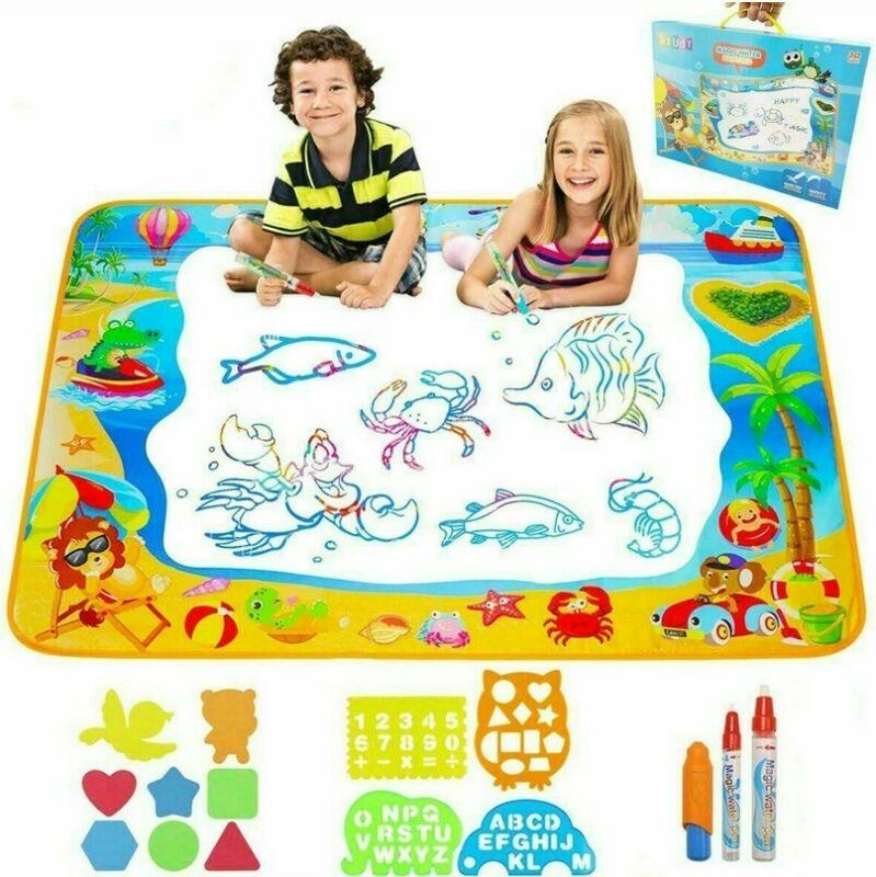 Magic Drawing Water Pen Painting Doodle Mat Board Kids Painting Toy JDUK HFUK