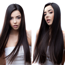 """26"""" Black Long Curly Lace Wigs with Baby Hair for Women 13x4 Deep Wave Hair Synthetic Lace Front Wigs Heat Resistant Fiber 2016 hot sale heat resistant synthetic lace front wigs long curly natural black for women free shipping untied braided"""
