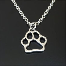 Dog paw necklace dog charm pendant jewelry memorial lover gift