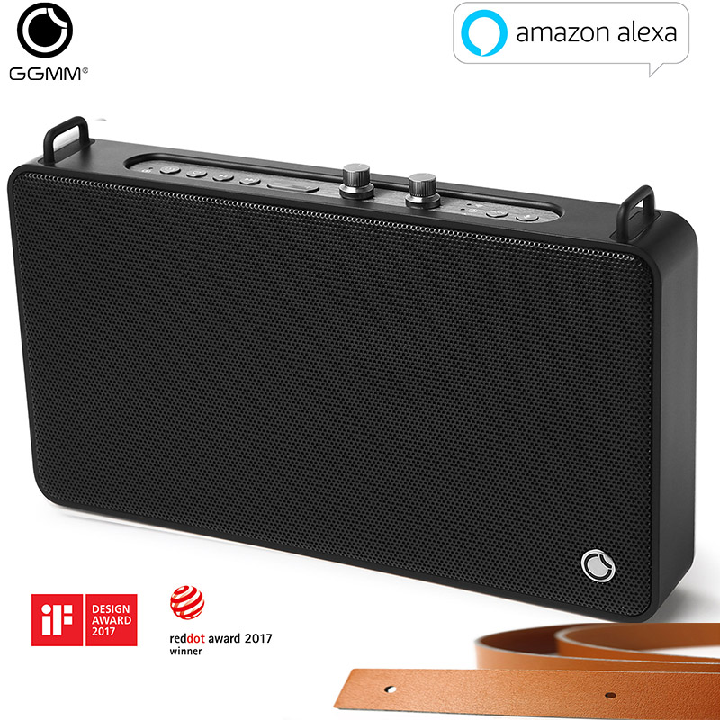 Leitor de Música Assistência de Voz para Exterior Ggmm Bluetooth Portátil Alto-falante 20 w Estéreo Subwoofer Caixa Quadrada hd Coluna Apoio e5