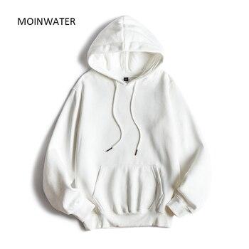 MOINWATER Brand New Women Fleece Hoodies Lady Streetwear Sweatshirt Female White Black Winter Warm Hoodie Outerwear MH2001 4