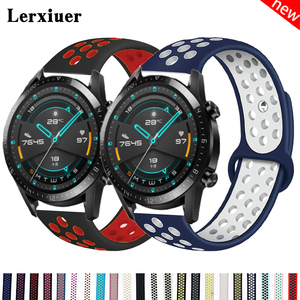 Huawei Watch GT 2/2e strap 42mm/46mm Sport silicone bracelet band for Samsung Galaxy watch gear s3/Active 2 20/22mm amazfit bip