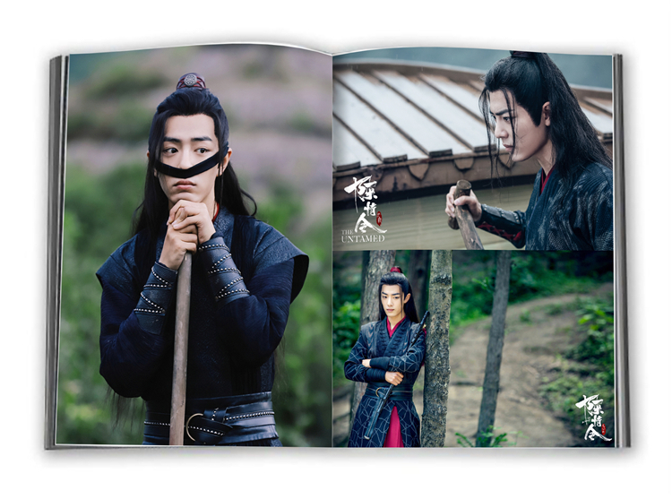 Chen Qing Ling Painting Album Book Wei Wuxian Lan Wangji Figure Photo Album Poster Bookmark Gift Anime Around