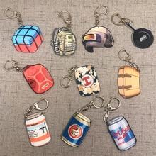 Acrylic Keychain Anime Keyring Helmet Pan Bag Design Pubg Game Souvenir Key Chain Women Gift For Boyfriend Wholesale Price