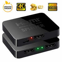 4K HDMI Converter HDMI Adapter 1 Input 2 Output HDMI Splitter Switcher Hub Support 4KX2K 3D 1080p for XBOX360 PS3/4/5 HDMI Cable