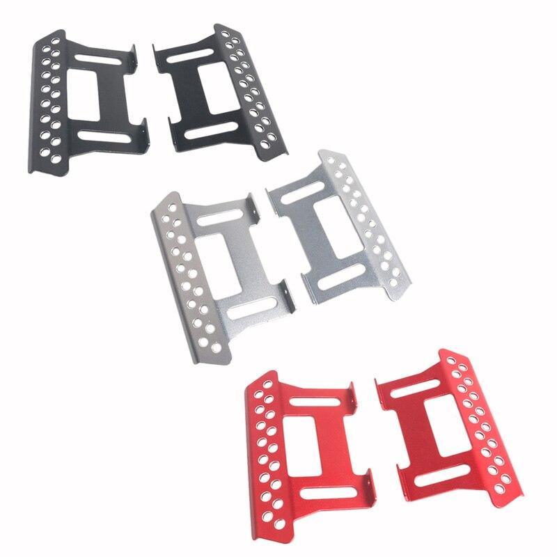Plaque de pédale latérale en métal de 2 pièces pour les curseurs latéraux axiaux Scx10 110