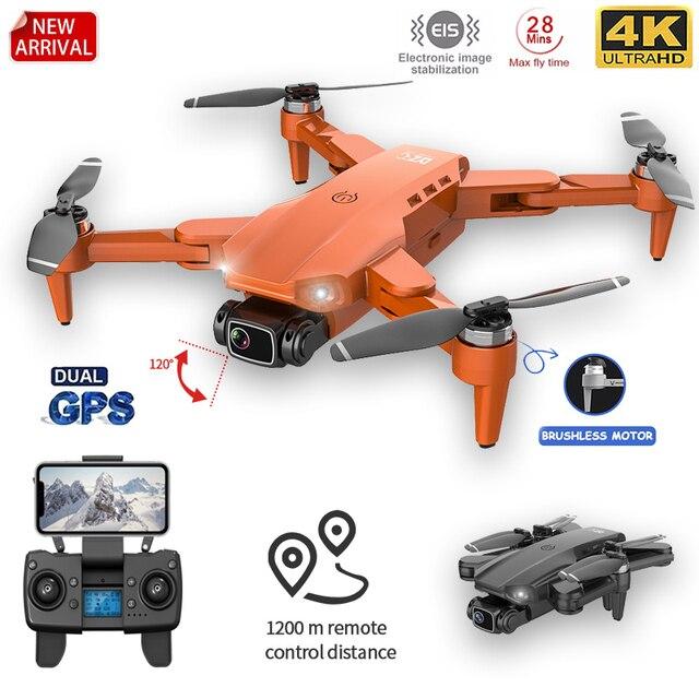 L900pro gps zangão 4k câmera dupla hd profissional fotografia aérea motor sem escova dobrável quadcopter rc distância 1200m 1