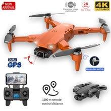 L900PRO GPS Drone 4K Cámara Dual de HD profesional de fotografía aérea Motor sin escobillas plegable RC Quadcopter helicóptero Quadcopter RC helicóptero distancia 1200M