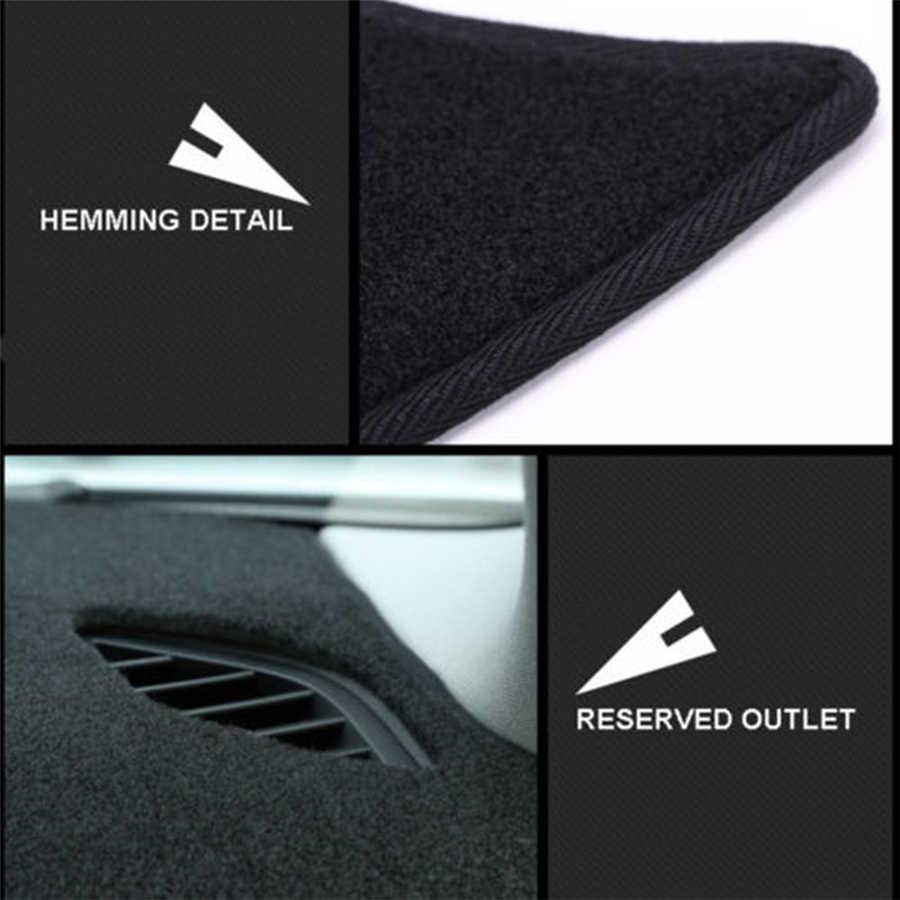 SJ الفاخرة لينة مخصصة صالح المضادة للانزلاق السيارات الداخلية لوحة القيادة غطاء الوسادة الشمس الظل داش مجلس حصيرة لسيارات BMW X1 مع الصوت 2016-20
