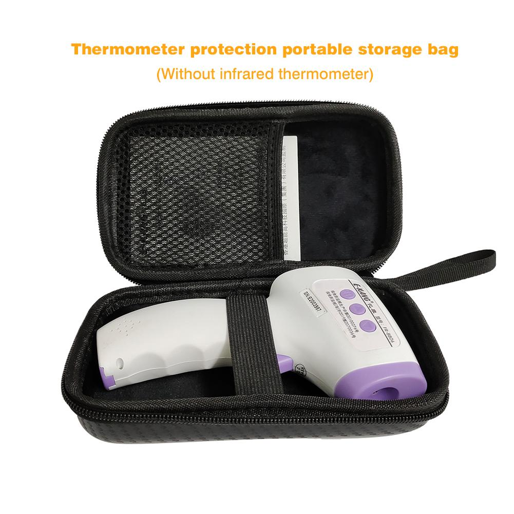 Thermometer Storage Case Lightweight Portable EVA Storage Box Infrared Thermometer Package Universal Protective Carrying Bag Box