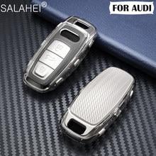 Nieuwe Aankomst Autosleutel Cover Case Protector Tpu Voor Audi A6L A7 A8 Q8 E-Tron C8 D5 2019 2020 Auto Klep Houder Shell Huid