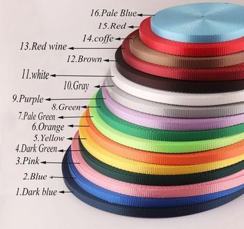 Nylon Webbing Ribbon plain Smooth  Soft solid color webbing Keychain Polyester Key Fob lanyard webbing-10mm