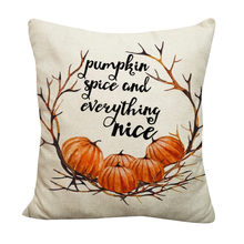Halloween Home Car Bed Sofa Decorative Letter Cushion Pillowcase Cushions for Sofa Polyeste(China)