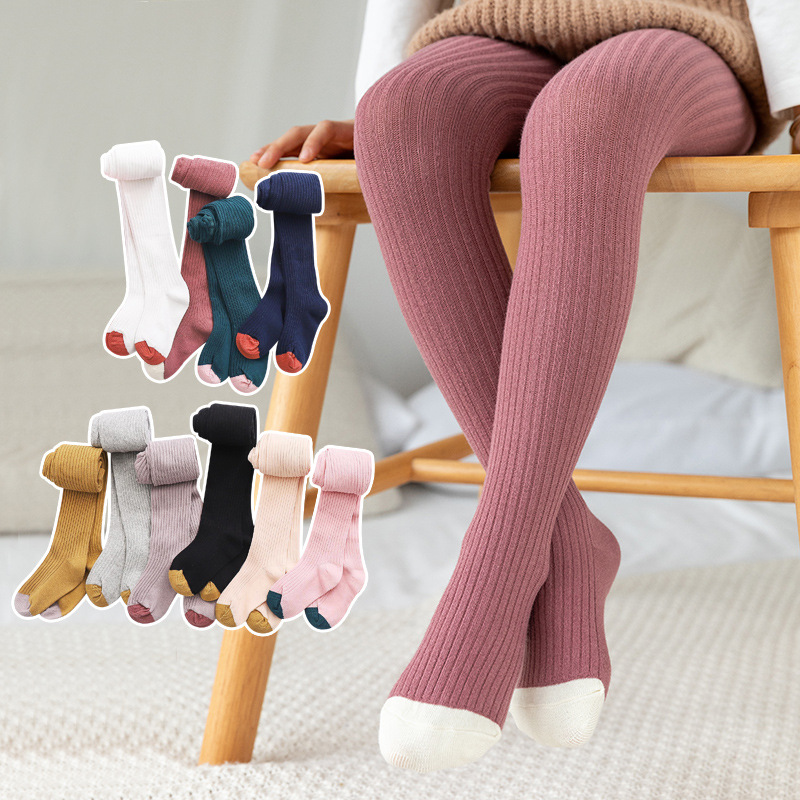 Baby Stockings Pants Girl Tights Warm Winter Cotton Child Candy-Color Cute Autumn Kid