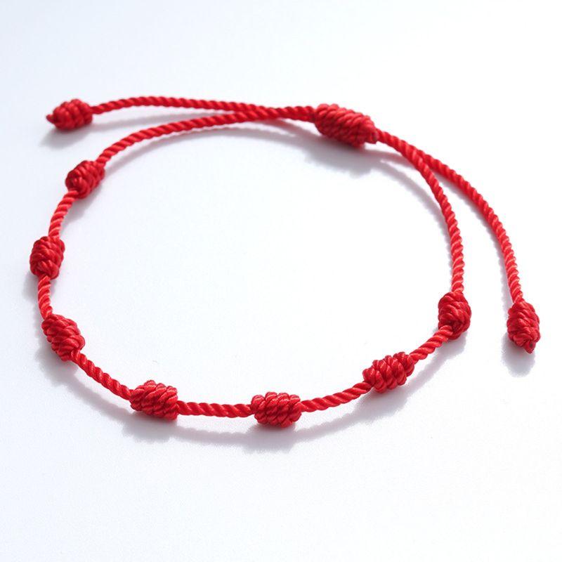 2 шт 7 узлов красный браслет для защиты сглаза удача амулет для успеха и процветания дружбы браслет|Браслеты с шармами|   | АлиЭкспресс