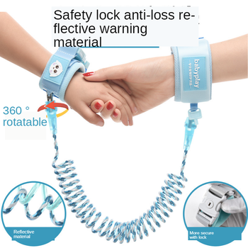 цена на Anti-Lost Children Prevention Rope Baby with a Bracelet Slip Silicon Anti-Lost Traction Child Anti-Lost Reflective Section