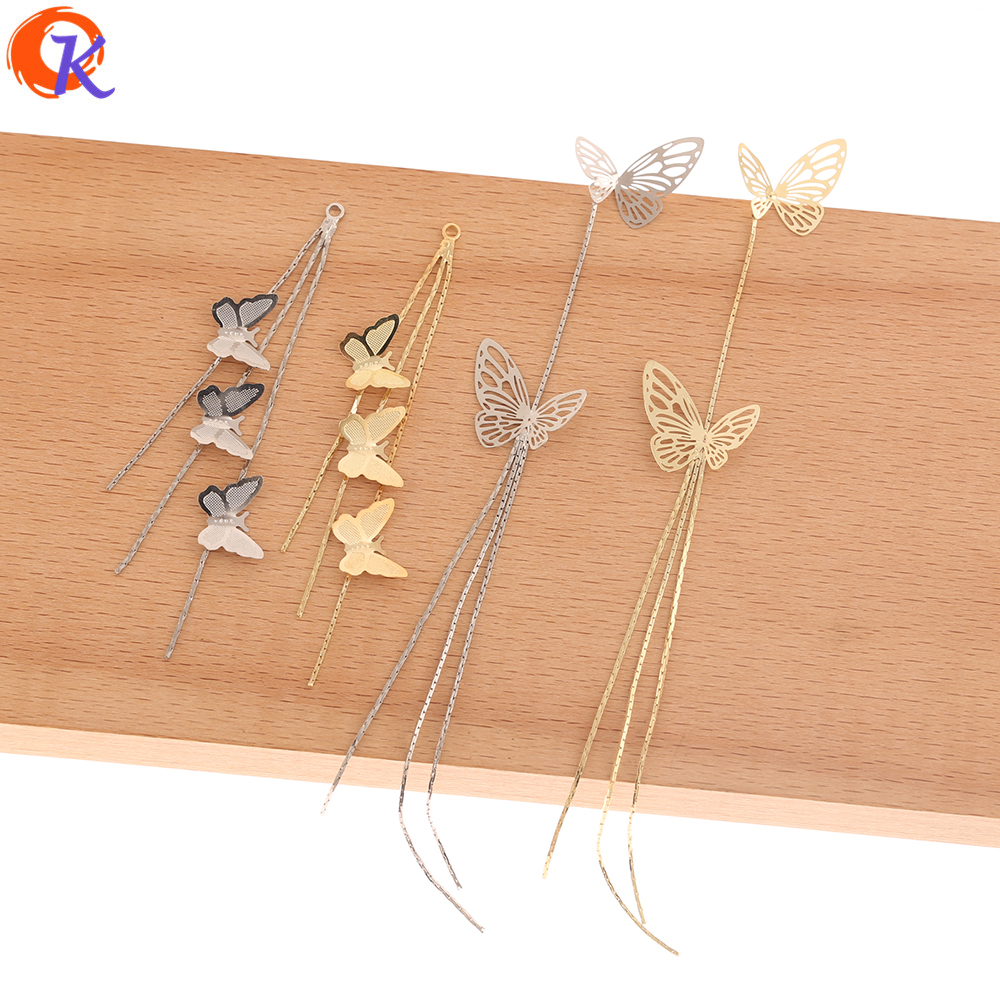 Cordial Design 50Pcs Jewelry Accessories/Earring Findings/DIY/Claw Chain/Butterfly Shape/Hand Made/Connectors For Earrings