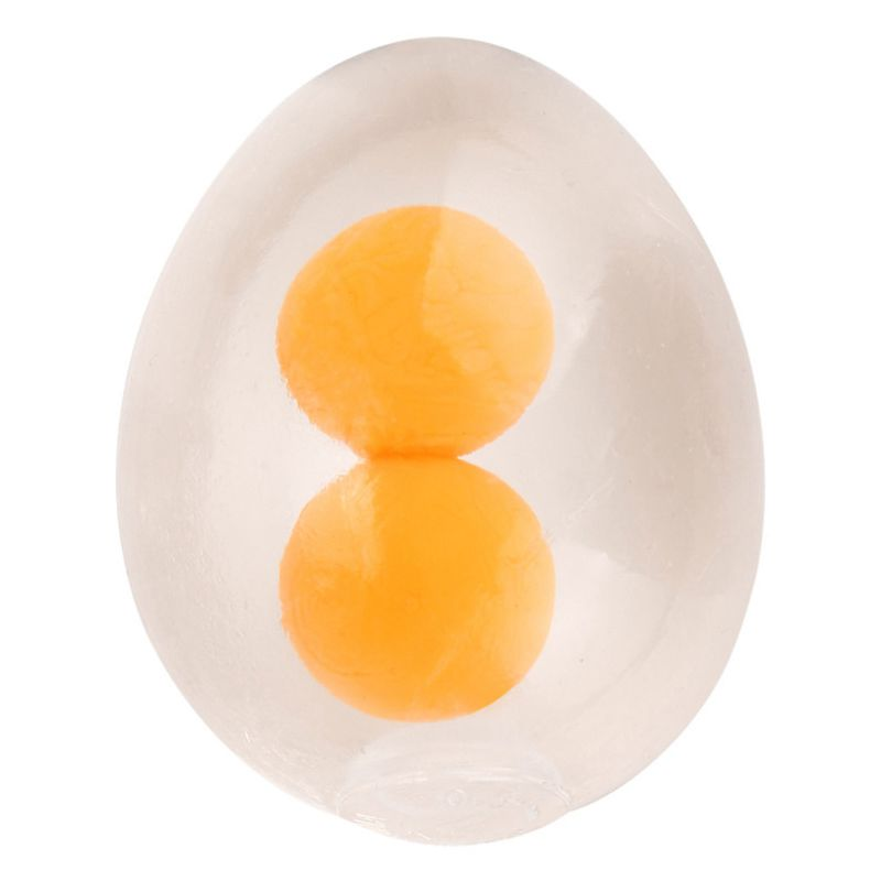 Funny Egg Splat Ball Squishy Toys Stress Relief Eggs Yolk Balls Squishies Toy For Children Anxiety Reducer Sensory Play Tension